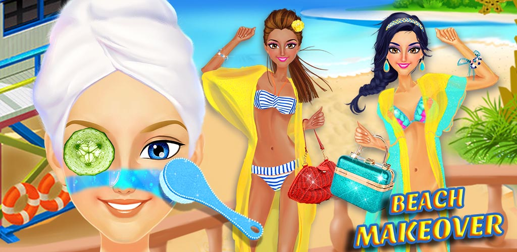Beach Girls - Summer Makeover  1000+ Fashion Dress Up & Make-Up Designs! It's hot weather season! Go to the Beach, Get a Tan, and Stay Stylish! Get that summer time glow!