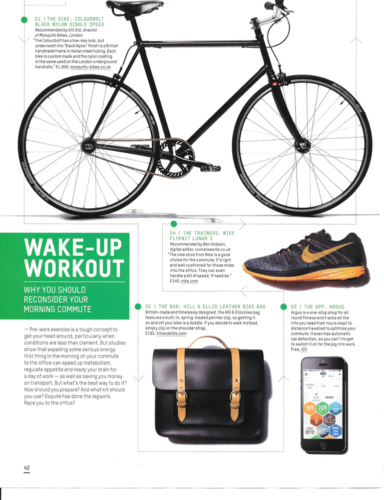 Esquire review of Hill & Ellis bike bags