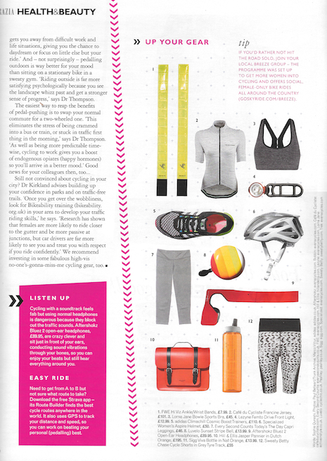 Grazia Review of Jasper bike bag