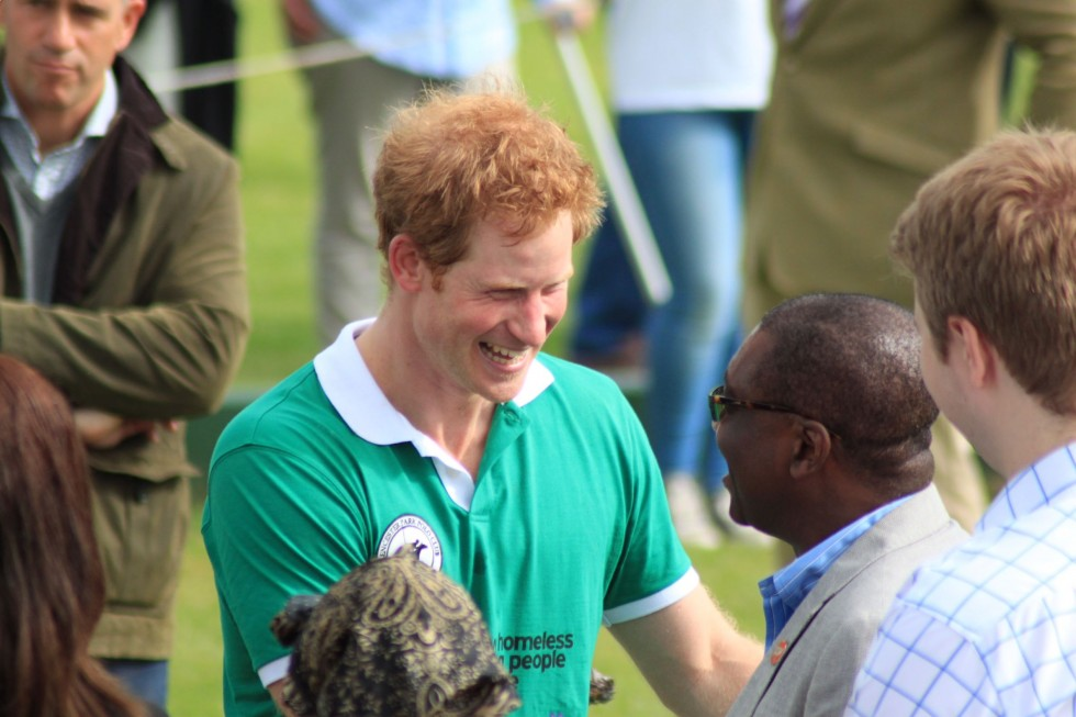 Prince Harry at the Polo