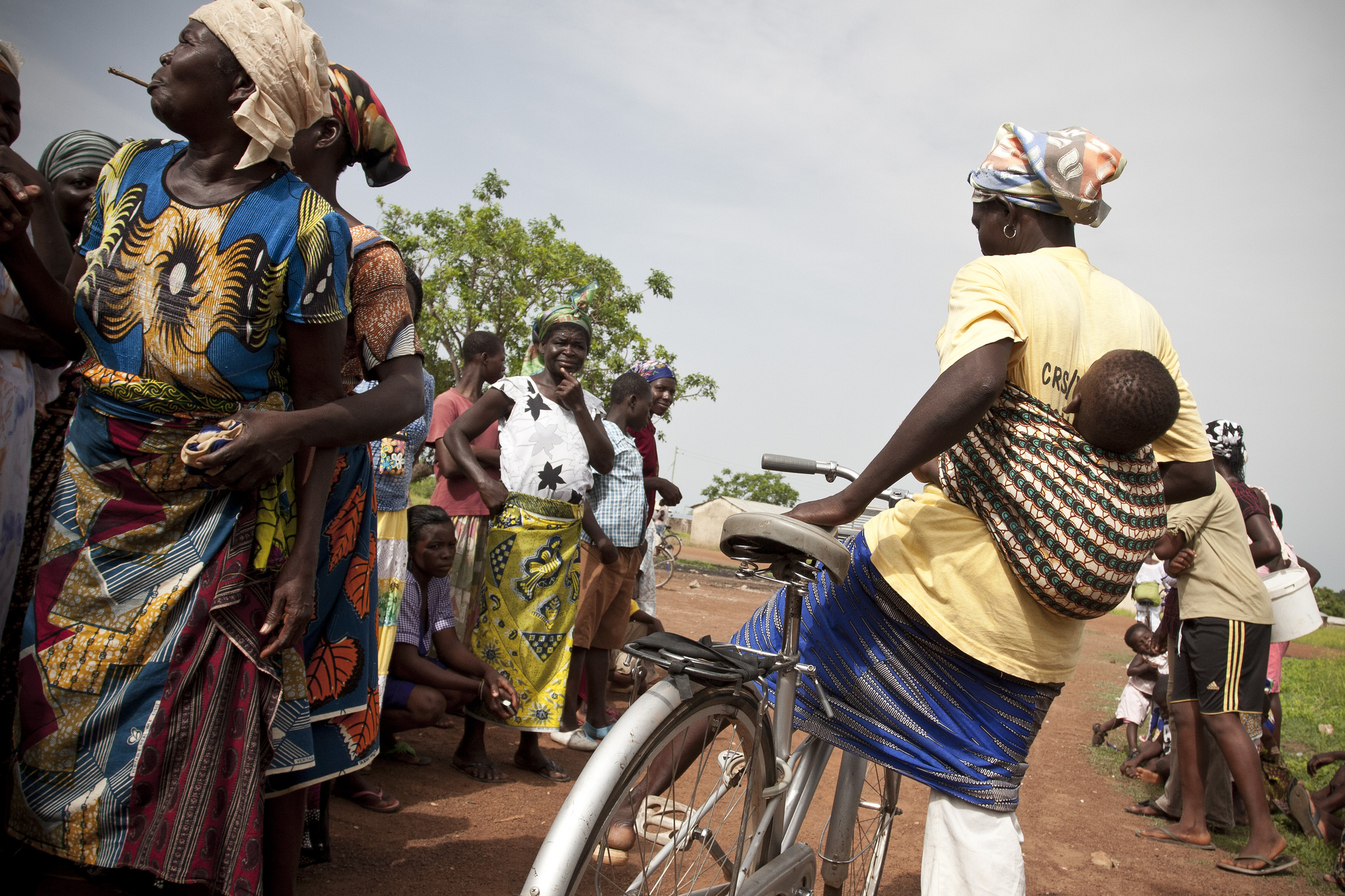 Girl on Bike in Africa for Recycle