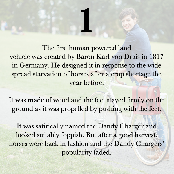 HIstory of the bicycle 1