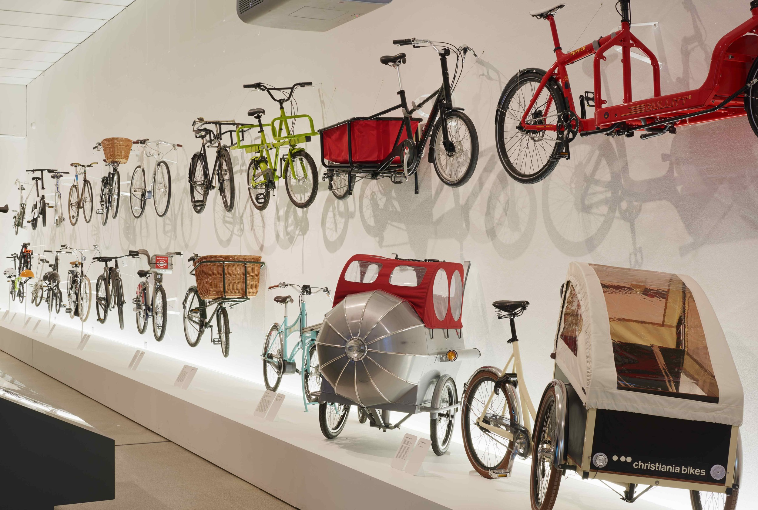 The Main hall including a range of cargo bikes, photographed by James Harris