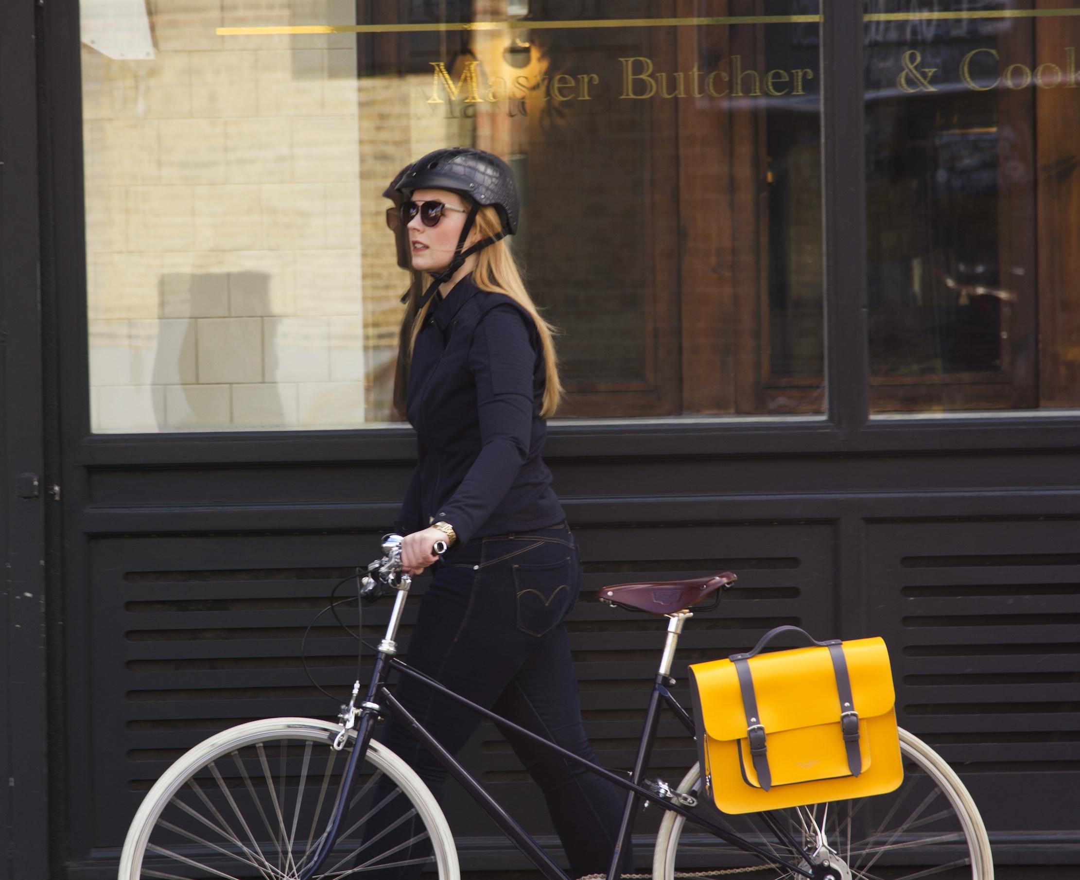 Meame biker Jacket and Bradley bike bag