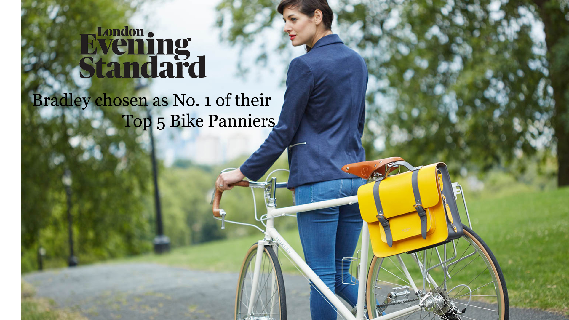 Yellow Leather Bike bag