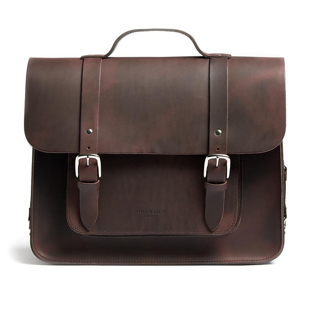 Brown satchel pannier bag
