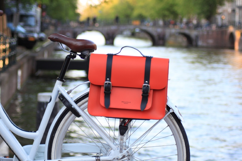 Amsterdam Orange bike bag