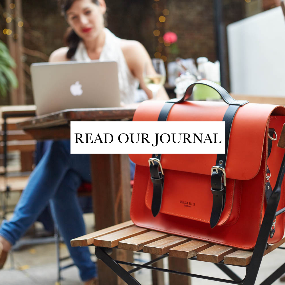 Orange Satchel Bike Bag pannier Journal page