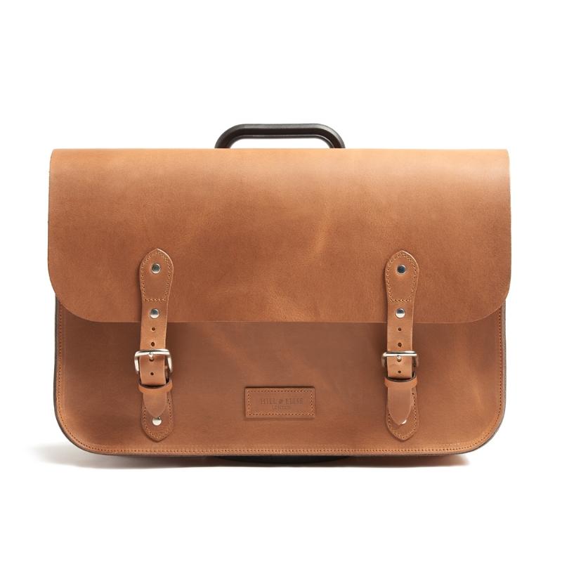 Tan leather Bag for Brompton bike