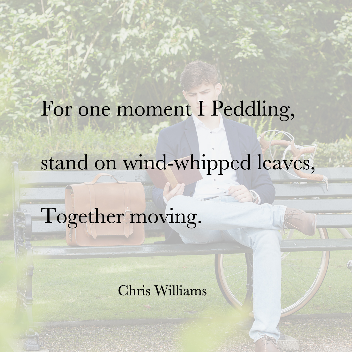 Baiku Chris Williams bike bag poetry