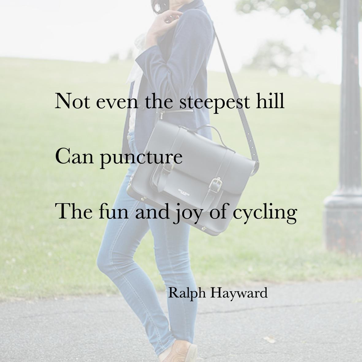 Baiku bike bag poetry ralph hayward