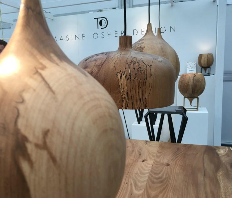 Wooden lighting design junction
