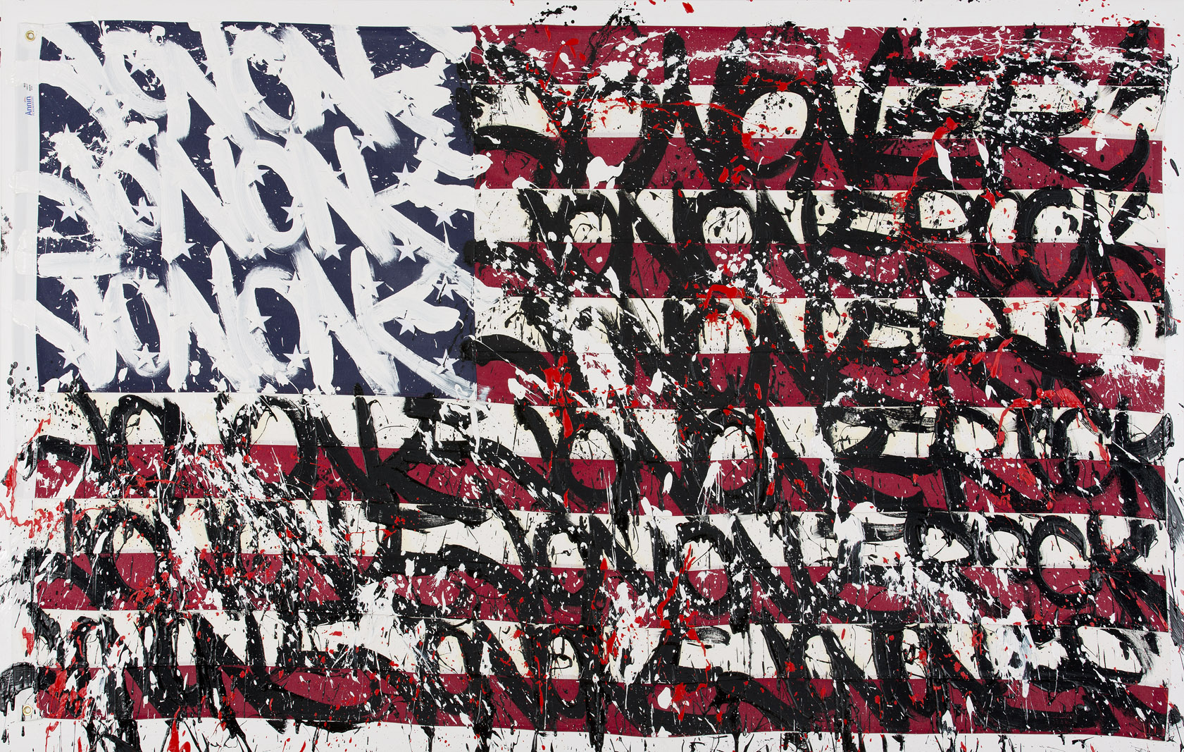 JonOne,  Can`t catch me , 2014, - 160 x 300 cm - Courtesy the artist and Rabouan Moussion Gallery Paris