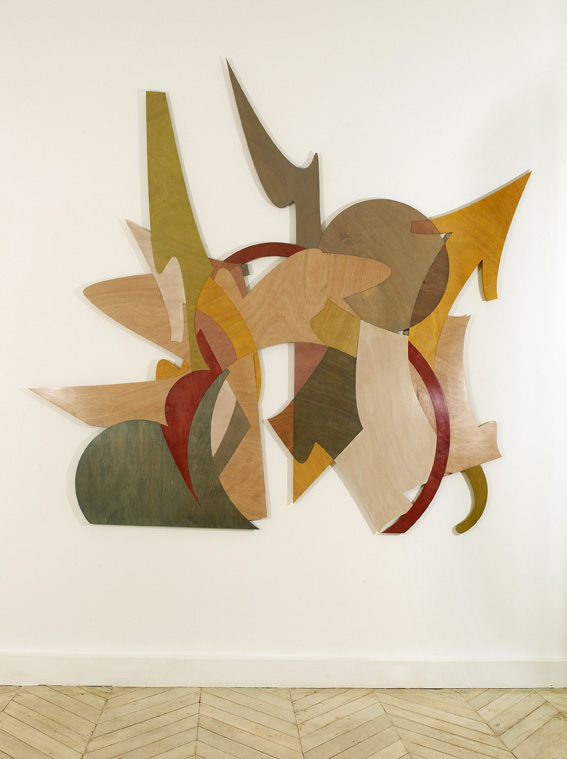 JonOne,  Untitled , 2011, Wood, Plexiglas, LED lights - 160 x 160 cm - Courtesy the artist and Rabouan Moussion Gallery Paris