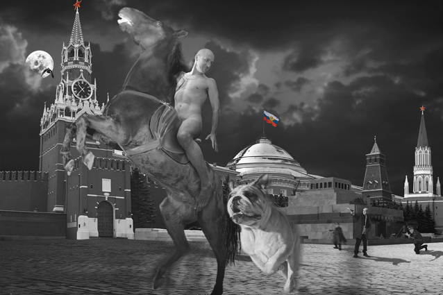 The Russian - Red Square, 1999 C-Print  Courtesy the artist and Rabouan Moussion Gallery Paris