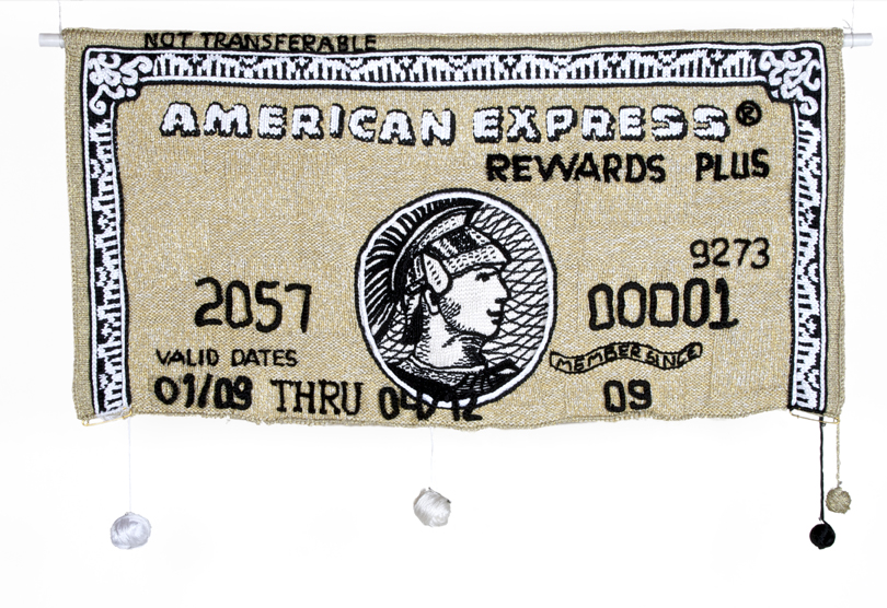 Gold Amex, 2009 - 80 x 195 cm - Courtesy the artist and Rabouan Moussion Gallery Paris