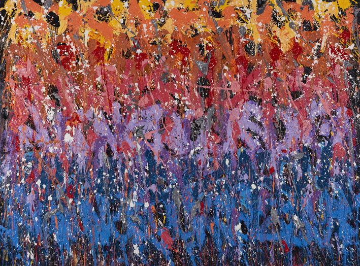 Misty Copeland, 2016, Huile sur toile, 202x272 cm