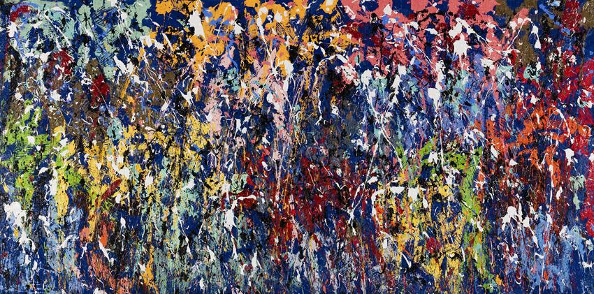 Carnaval, 2016, Huile sur toile, 148 x 298 cm