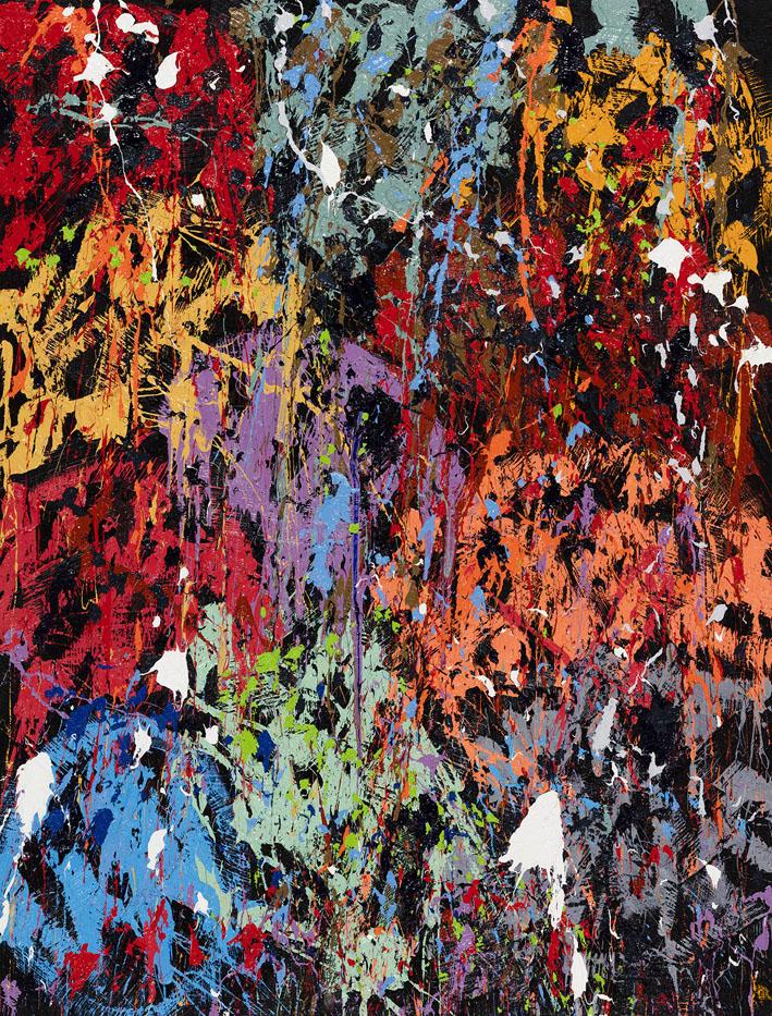 Color Boost, 2016, Huile sur toile, 170 x 130 cm