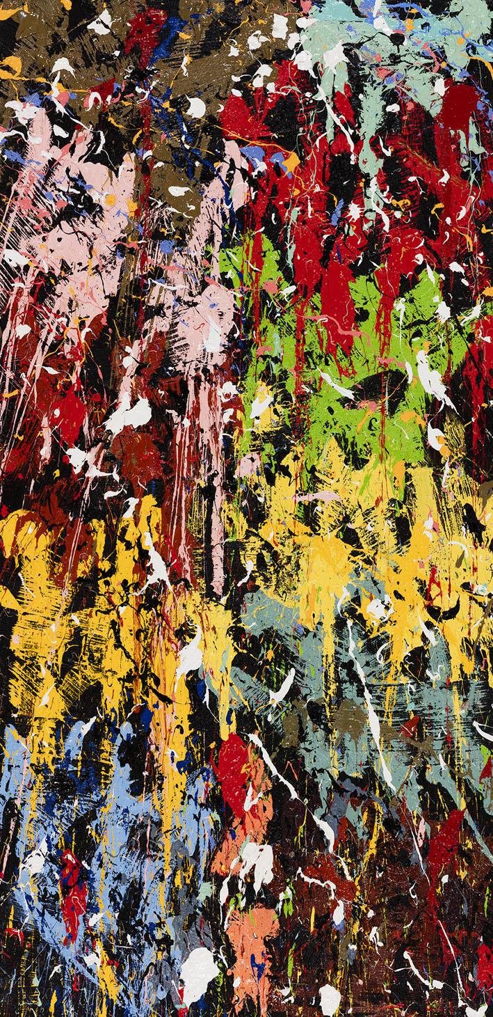 Spitting Fire…, 2016, Huile sur toile, 179 x 88 cm