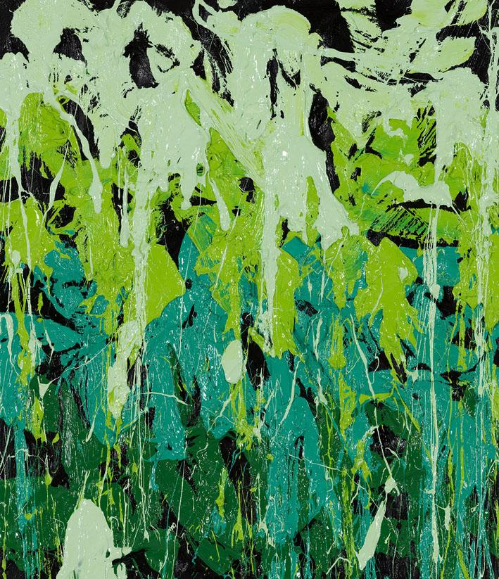 Green Pastures, 2016, Huile sur toile, 72 x 58 cm