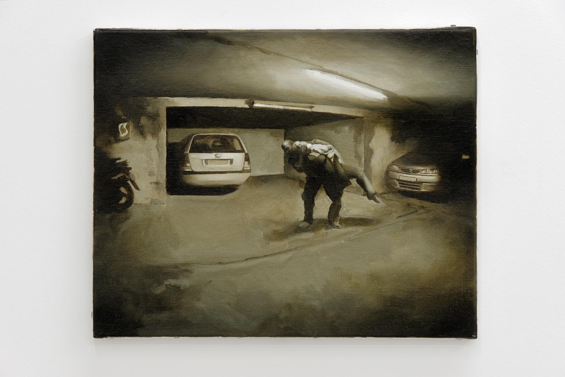 Guillaume Bresson    Sans titre  peinture à huile sur toile (étude) 30 x 40 cm  Courtesy the artist and Galerie Rabouan Moussion Crédit photo : Aurélien Mole