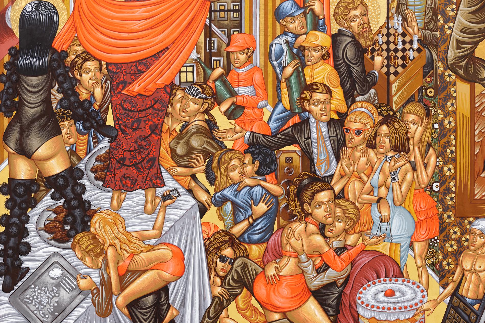 Stelios Faitakis   Untitled , 2012 Technique mixte sur toile 260 x 190 cm, détail  Crédit photo : Aurélien Mole