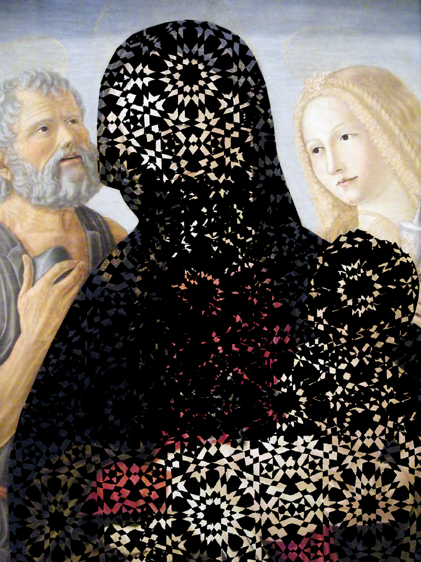 Mehdi-Georges Lahlou, It's more sexy or Vierge à l'Enfant, C-print on forex 40 x 30 cm, 2012 - Courtesy the artist and Rabouan Moussion Gallery Paris