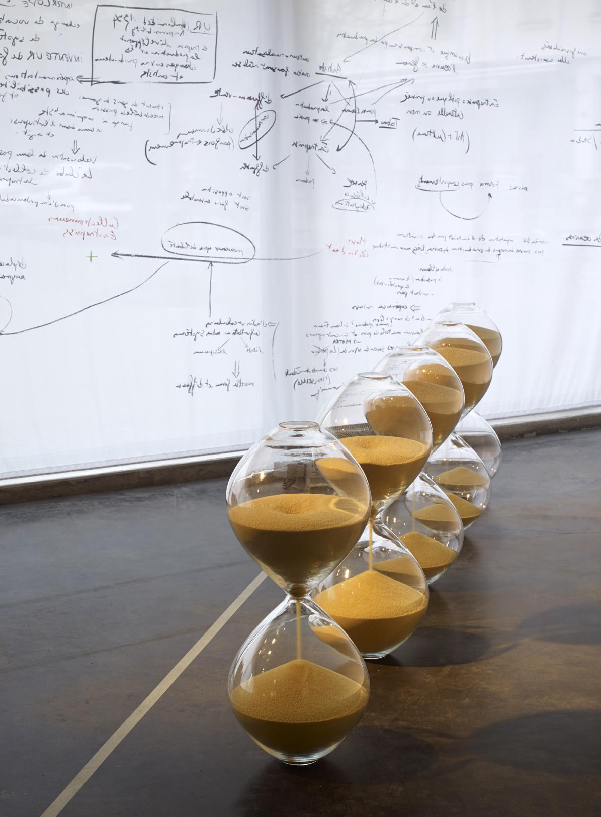 Mehdi-Georges Lahlou,  The Hourglasses, Detail, mold-blown glass, couscous 73 x 30 x 30 cm, 2015 - Courtesy the artist and Rabouan Moussion Gallery Paris