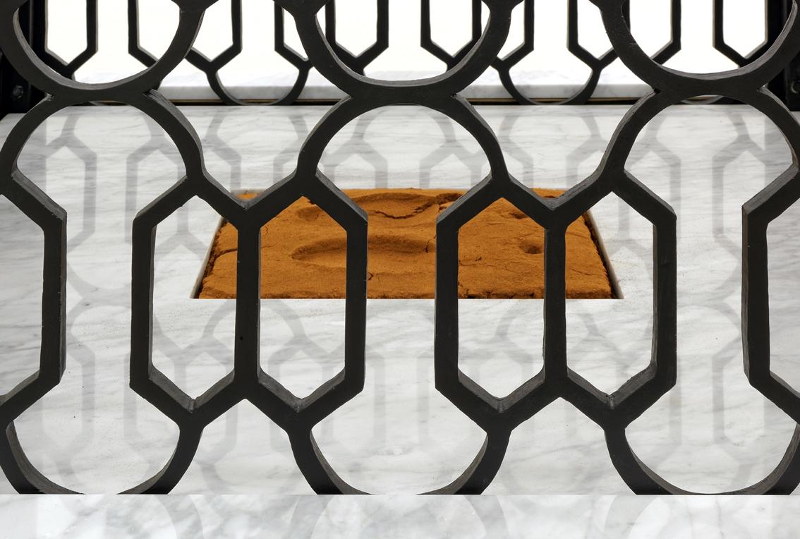 Mehdi-Georges Lahlou,  Les talons d'Abraham, detail, marble, wood, cinnamon, various materials 320 x 180 x 180 cm, 2016 - Courtesy the artist and Rabouan Moussion Gallery Paris