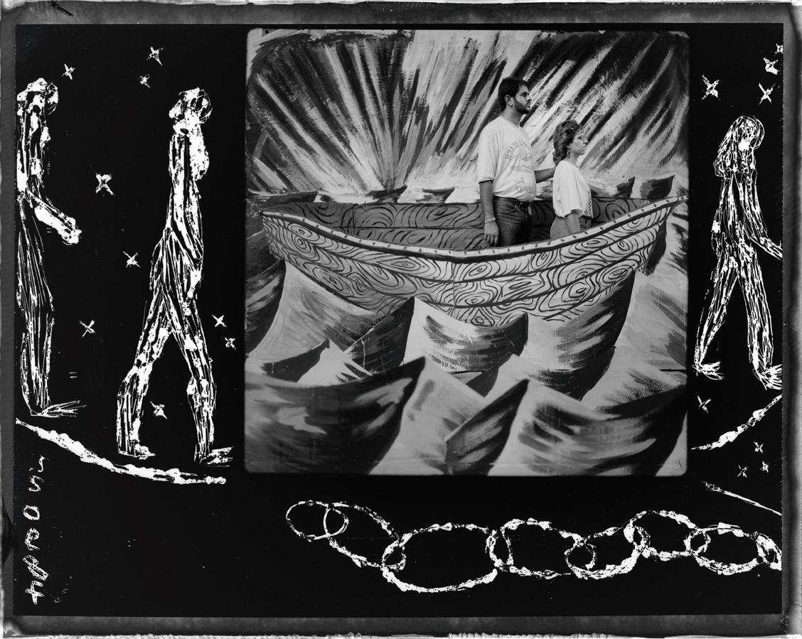 Sans titre-Barbès-Paris, 1988-Grattage sur Polaroïd.jpg
