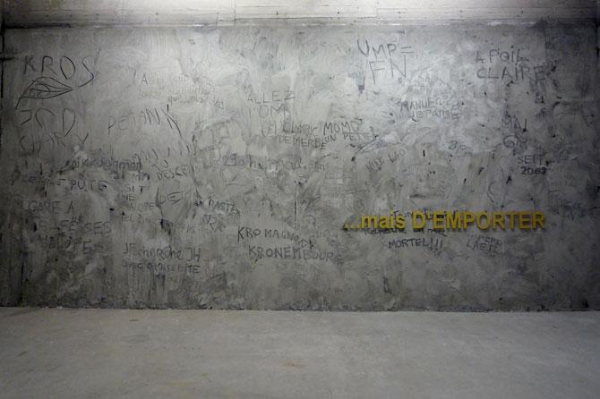 Tania Mouraud - 1985 Art Space # 6, réactualisé au Centre d'art Passerelle, Brest 1985