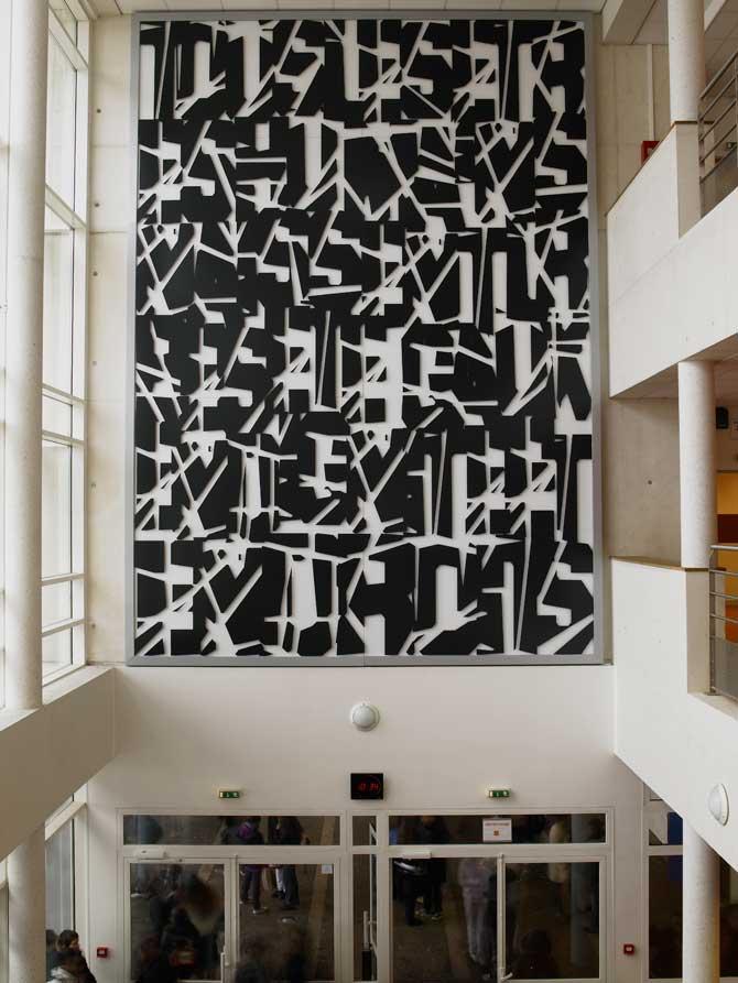 2008, Valenton, France, Hall of College Fernande Flagon, 5 x 7 m