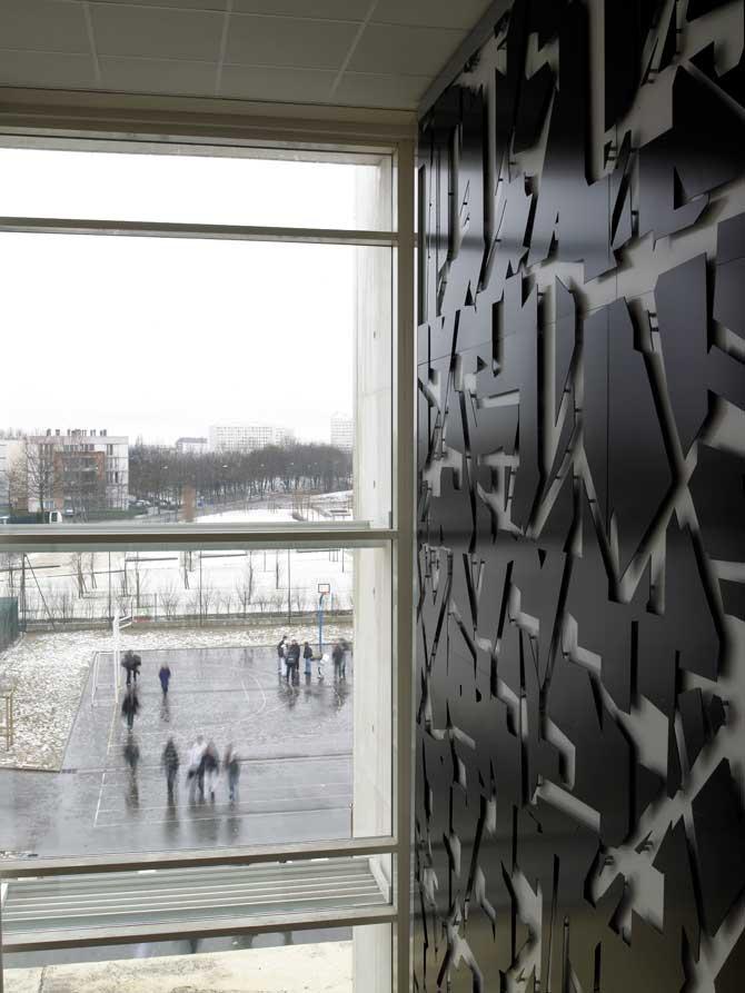 2008, Valenton, France, Hall of College Fernande Flagon, 5 x 7 m, detaile