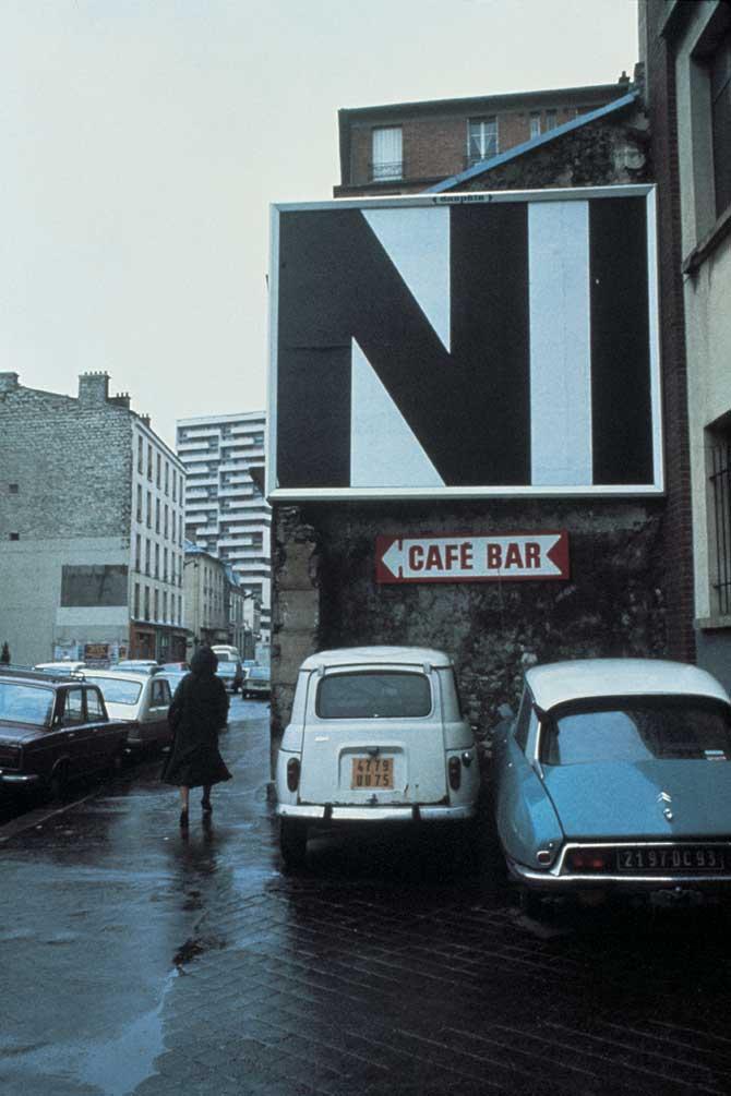 1977-1978 City Performance   #3, Silkscreen 3 x4 m on 54 Billboards, Paris 1977-1978, Collection FRAC Lorraine