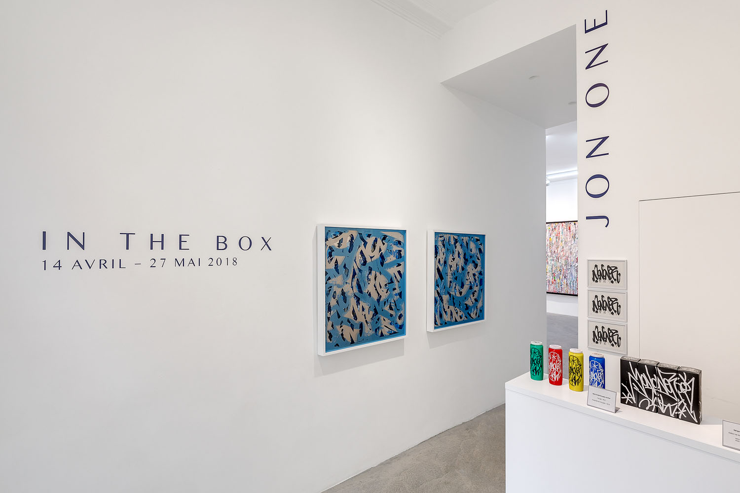 JonOne, In The Box, Galerie Rabouan Moussion