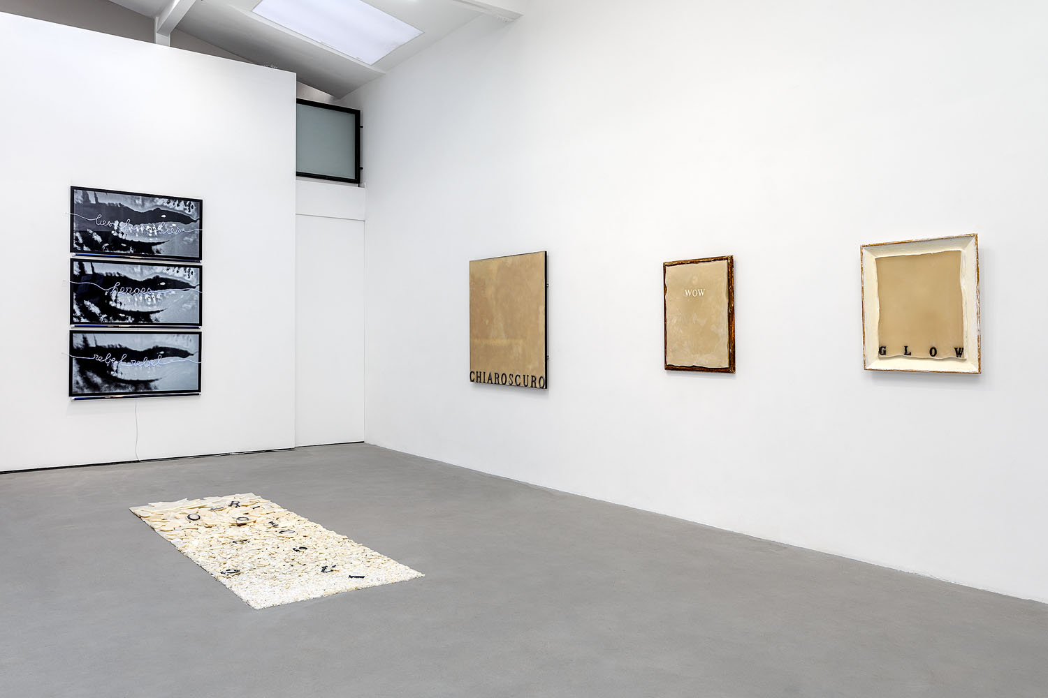 Florence Cantié-Kramer, Word for Word, Rabouan Moussion Gallery Paris  Courtesy the artist and Rabouan Moussion Gallery Photo Credit : Romain Darnaud
