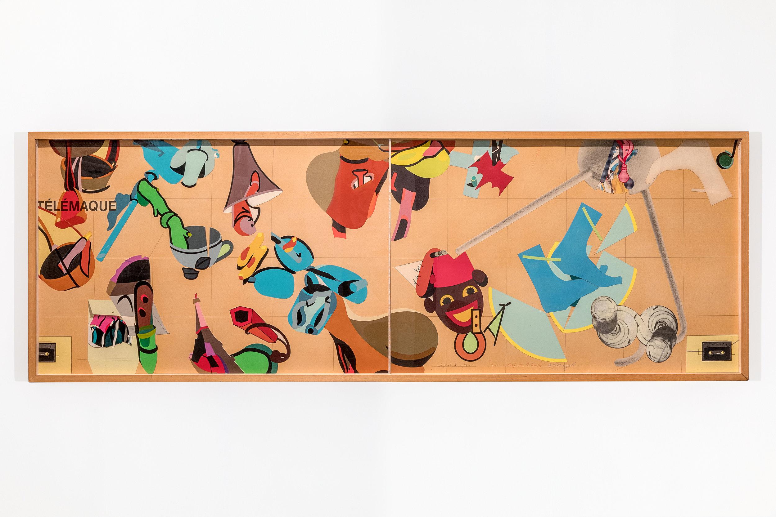 La Parade des objets, 1995, Collage, 80x230 cm