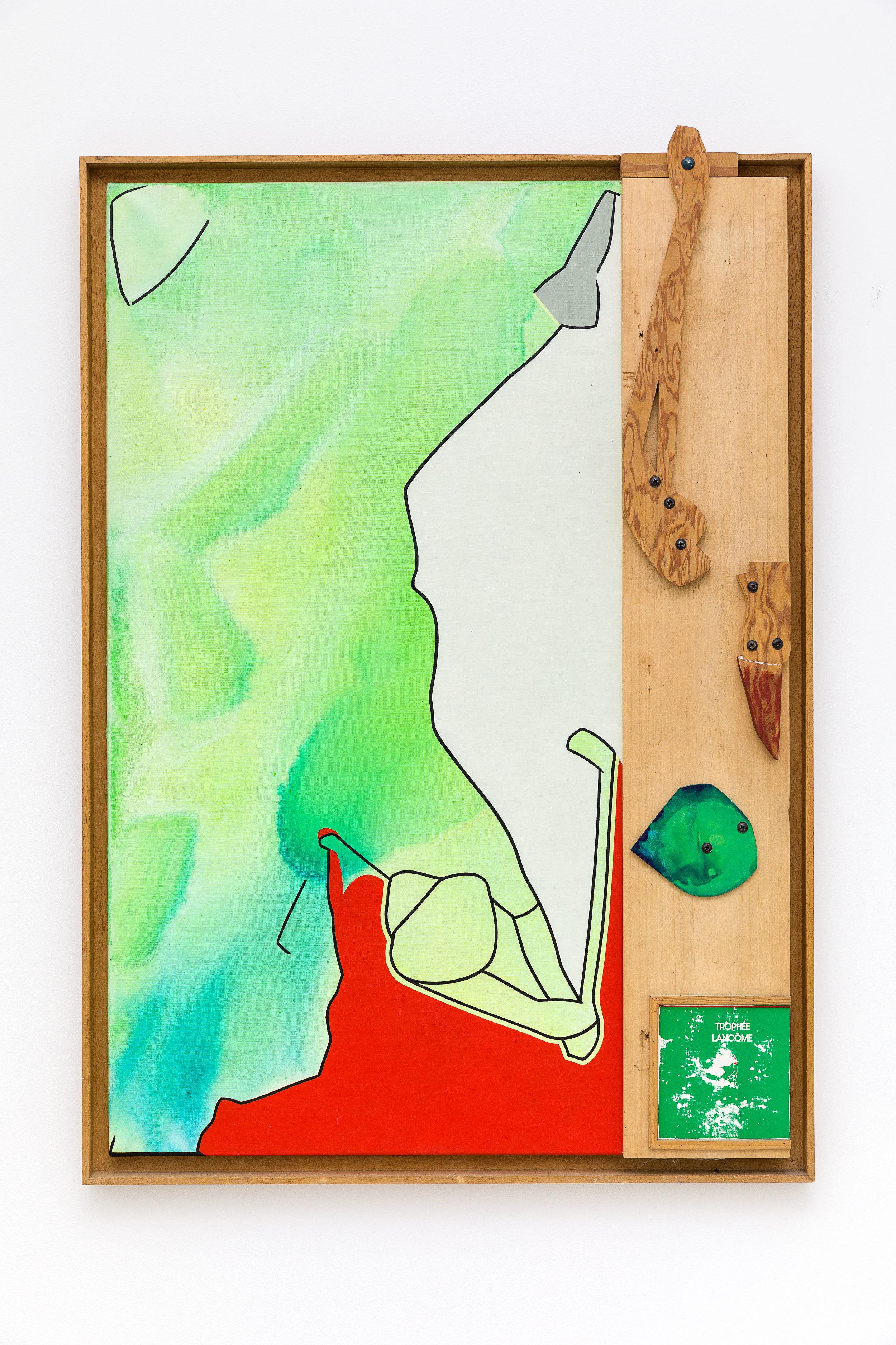 Trophée Lancôme, 1994, Acrylique et montage en bois sur toile, 123x87 cm