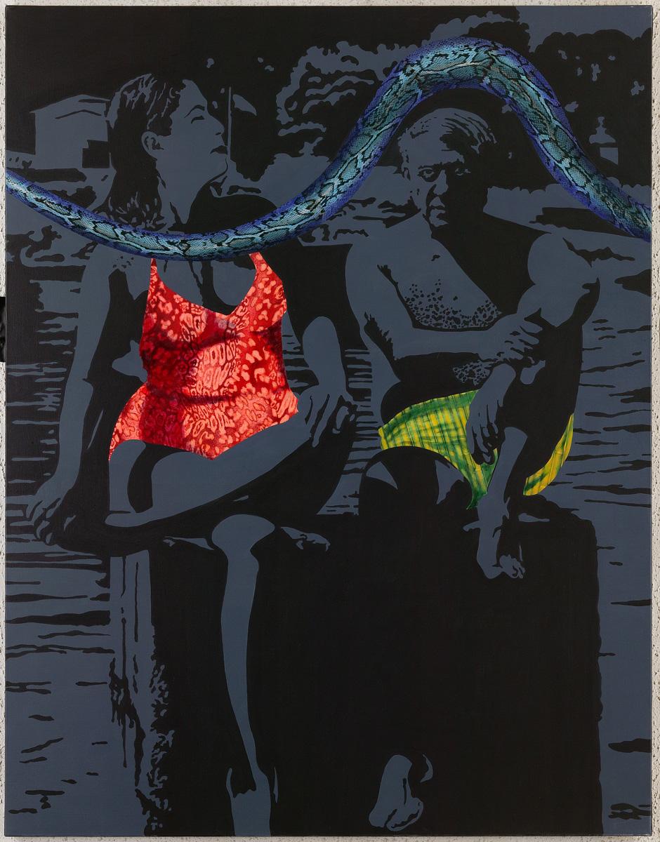 Pablo & Dora, 2006, acrylique sur toile, 146 x 114 cm