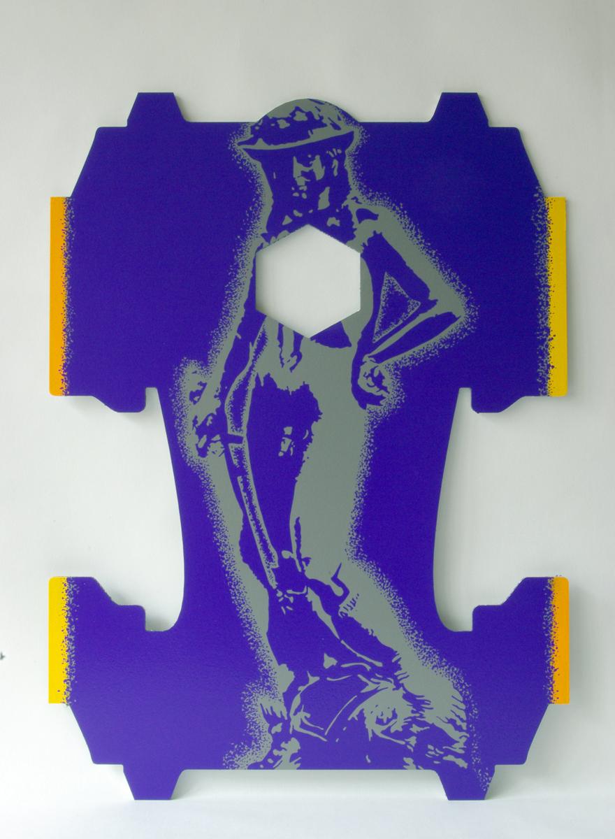 Il s'est payé ma tête, 2012, acrylique sur aluminium, 90 x 65 cm