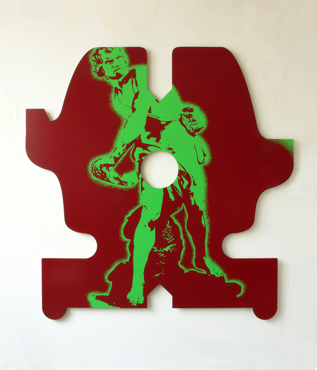 Plutôt fronder que d'être berné, 2012, acrylique sur aluminium, 148 x 148 cm