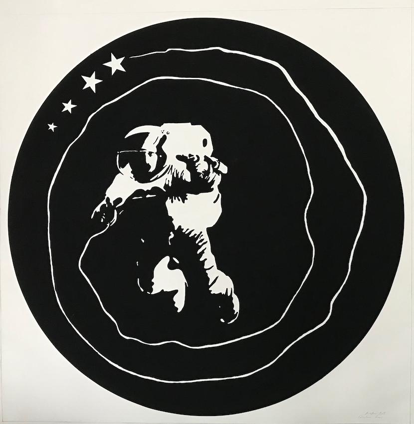 Fabulous Four, 2019, acrylique sur papier,  130 x 130 cm