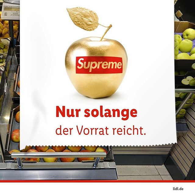 When a super market chain in Germany uses #Supreme for their #aprilfools joke!  Catching up on culture right now! @lidlde  #attentionthroughprovcation #supreme #lidl #limited