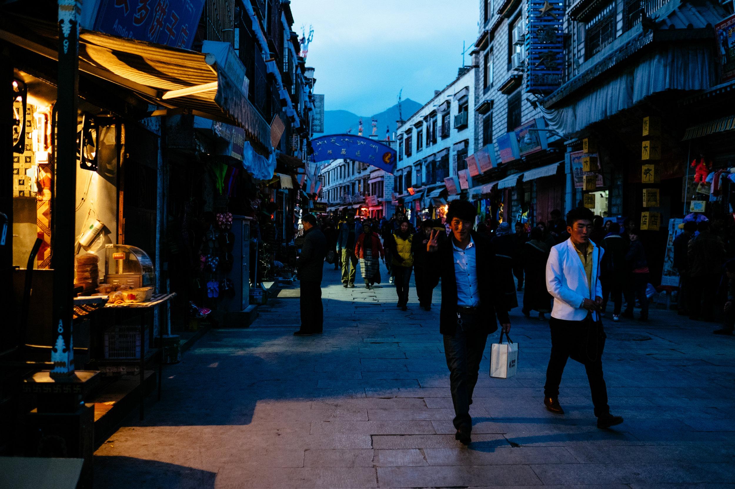 Twilight Street Scene