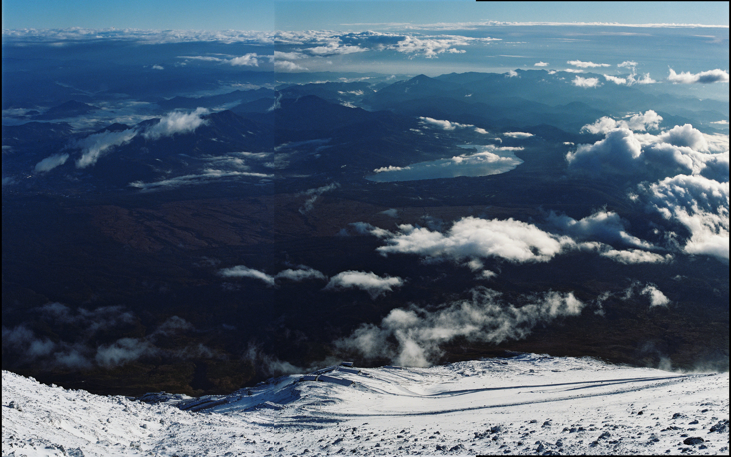 View from Summit of Mount Fuji