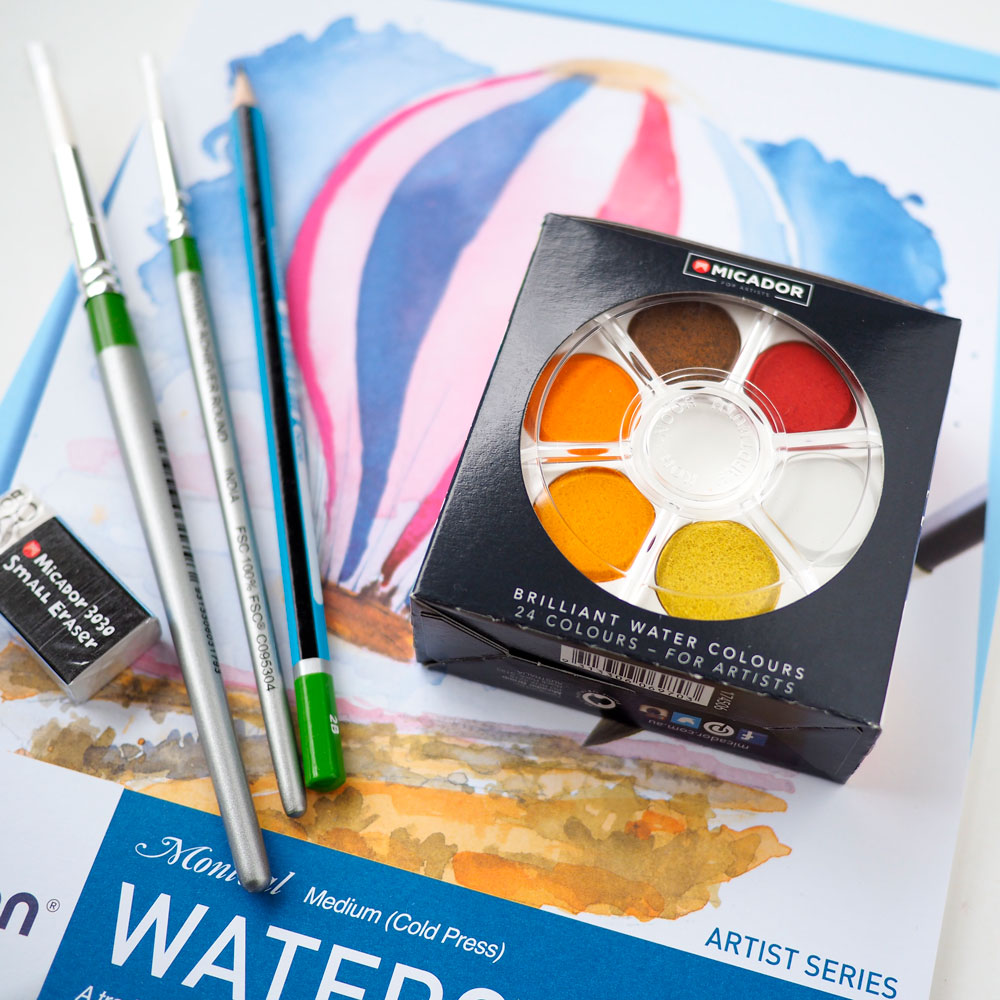 Hooked on Watercolour? - Watercolour Starter Kits are here! Everything to get your started is included.