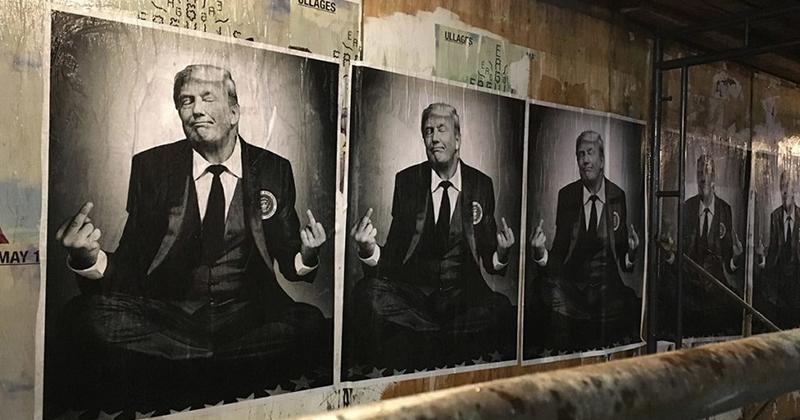 Pro-Trump street art in Los Angeles