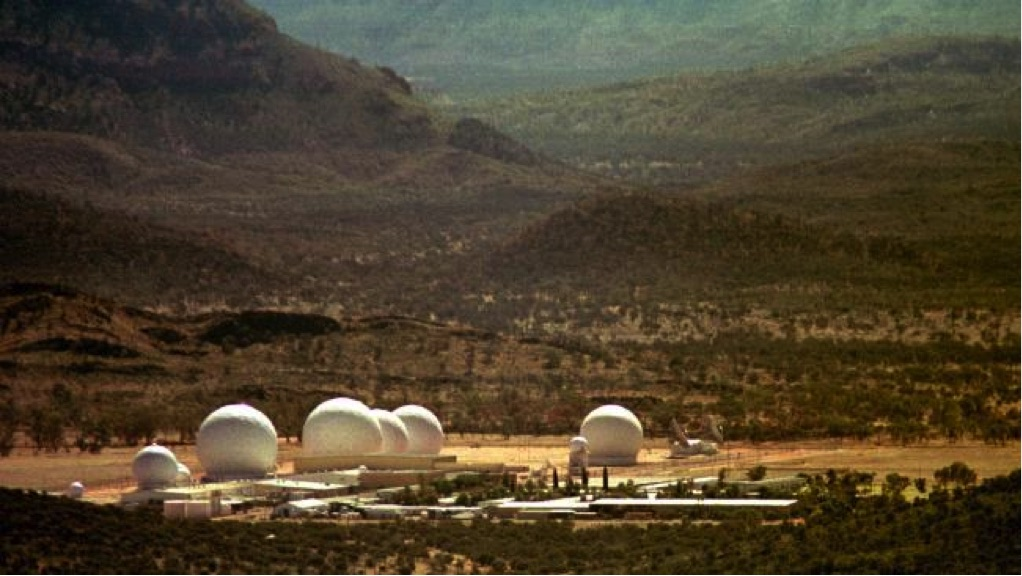 The American satellite communications sucker-upper, near Alice Springs, that Gough Whitlam outed in 1975.