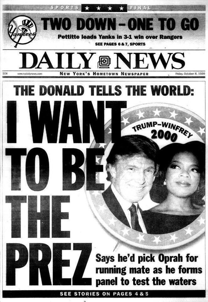 Not a fake newspaper. This was published on October 8, 1999.